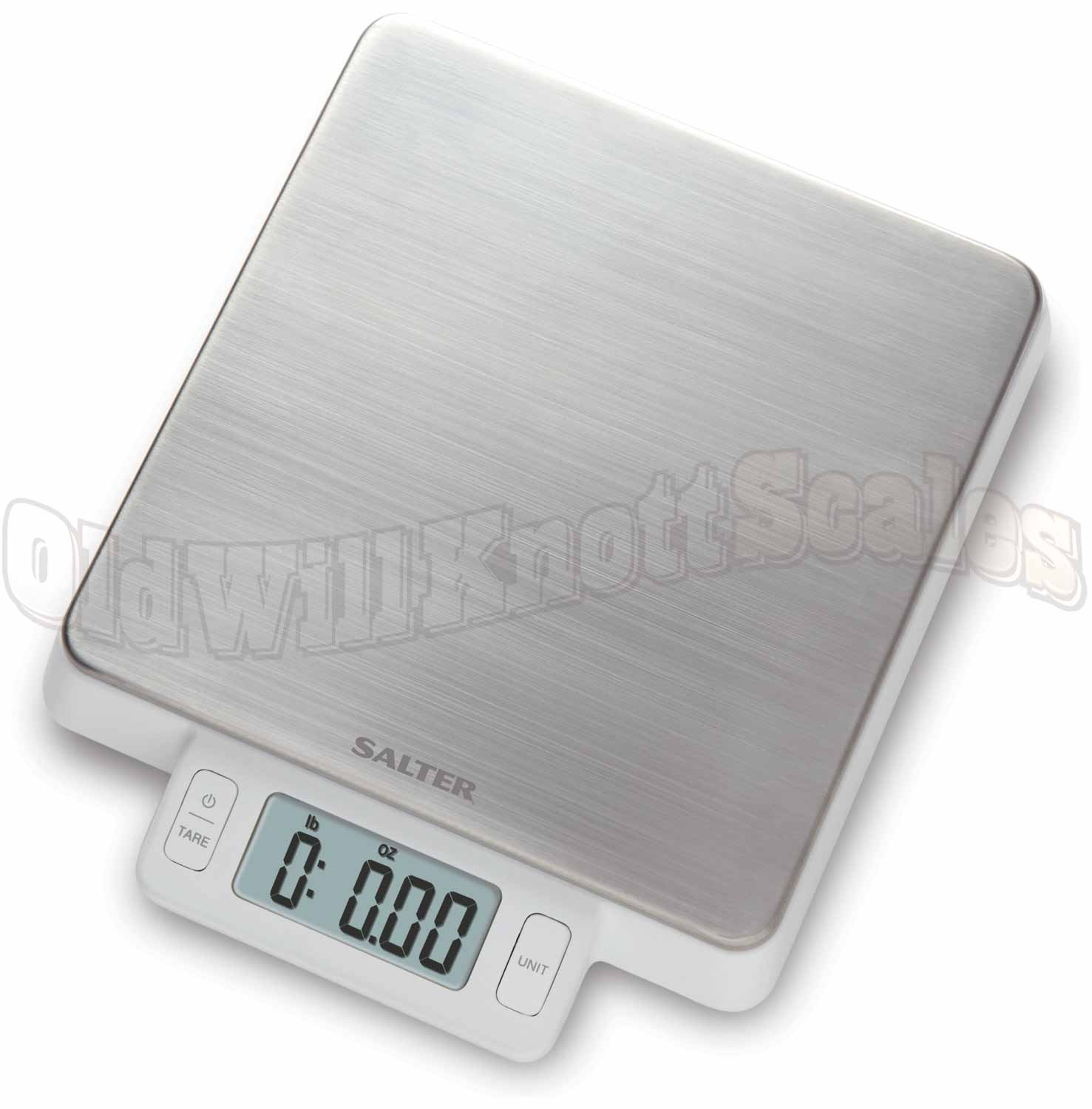 The Salter 1078SS Digital Kitchen Scale with Dishwasher Safe Platform