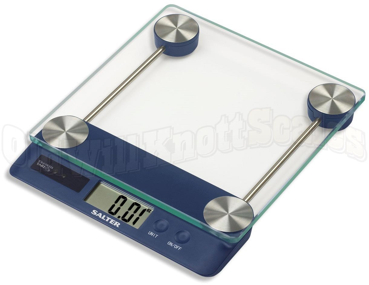 The Salter 3830TT High Capacity Digital Kitchen Scale with Glass Top