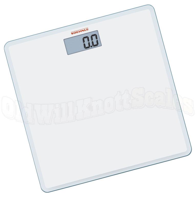 Soehnle 63558 slim design white digital bathroom scale for Big w bathroom scales