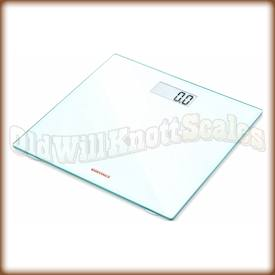 The SOEHNLE 63747 Pino White digital bathroom scale.