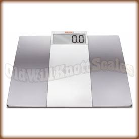 The SOEHNLE 63749 Verona White digital bathroom scale.