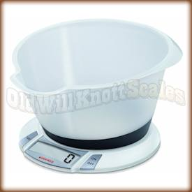 The SOEHNLE Olympia Plus 66111 digital kitchen scale with bowl.