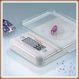 The Ultra 2.0 weighing a jewel.