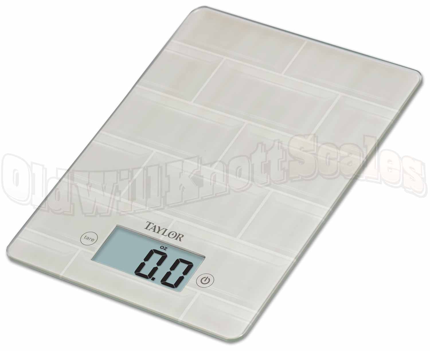Taylor 3812 Glass Top Digital Kitchen Scale with Tile Design