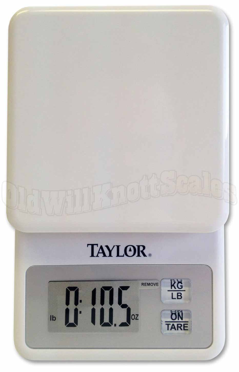 Taylor 3817 White Compact Digital Kitchen Scale