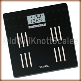 Taylor digital body fat scale.