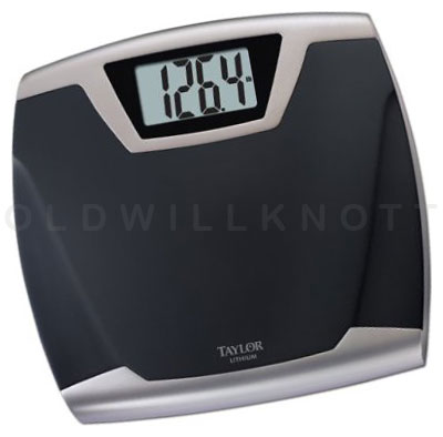 The Taylor 7340b Lithium Electronic Bathroom Scale