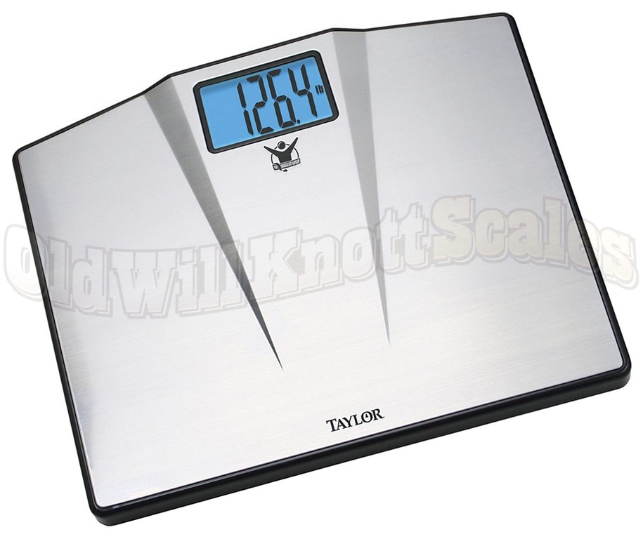Taylor 7410BL. Taylor 7410 550 Pound Bathroom Scale with Stainless Steel Platform