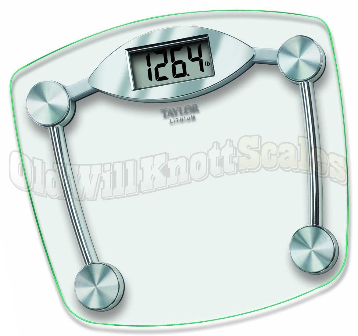 Taylor Bathroom Scales >> The Taylor 7506 Glass Lithium Electronic Bathroom Scale
