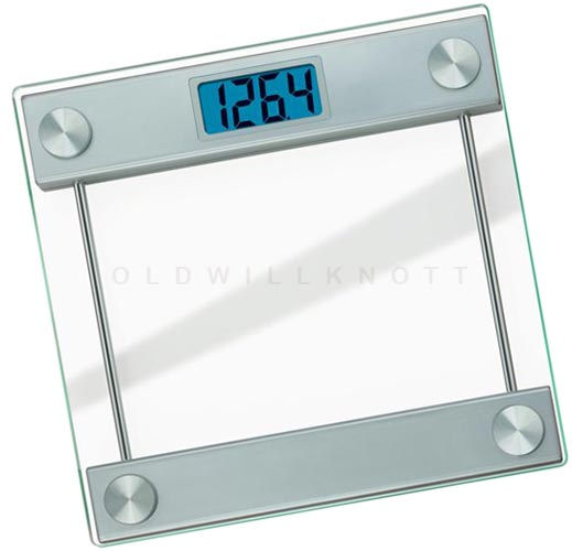 The taylor 7519 glass platform digital bathroom scale - How to calibrate a bathroom scale ...
