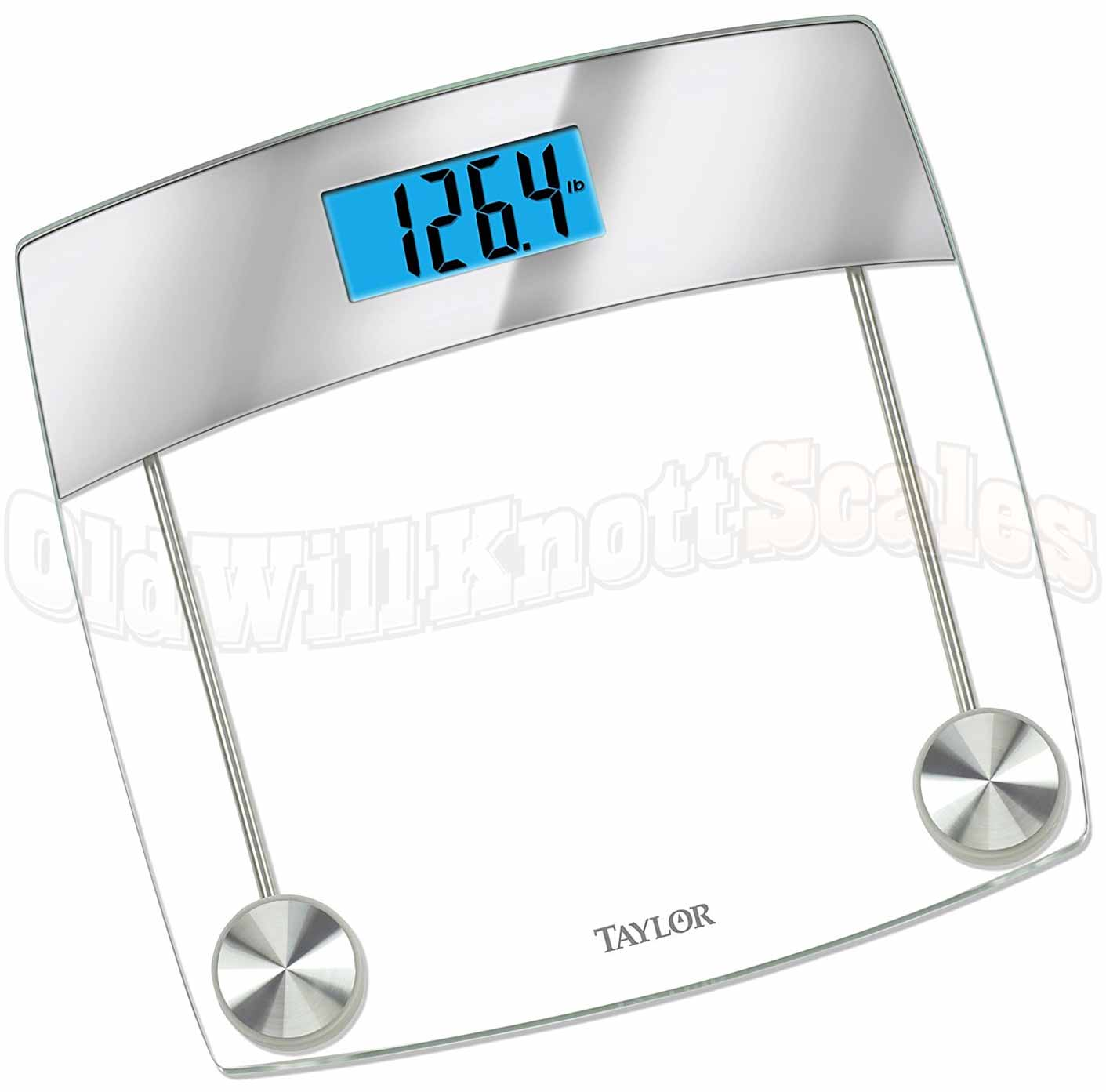 Calibrate digital bathroom scale - Taylor 7524 Digital Bathroom Scale With Glass Platform And Mirror Accent