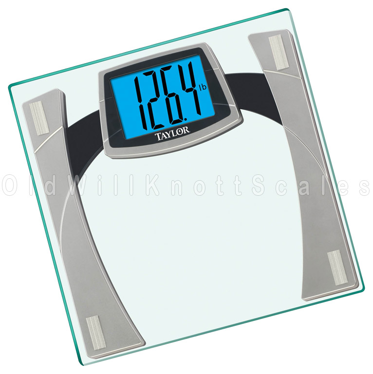 The taylor 7556 digital bathroom scale with extra large - How to calibrate a bathroom scale ...