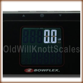 Closeup of the Bowflex 7559 display.