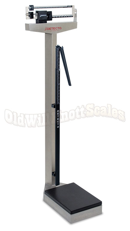 Detecto 339S - Pounds and Kilograms - Height Rod Included