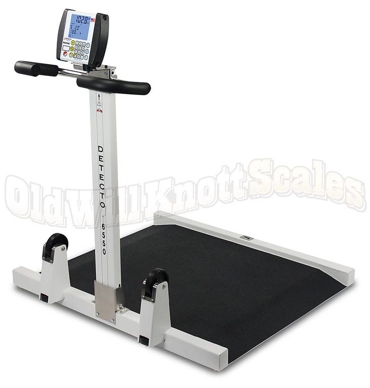 Detecto 6550 Portable Folding Wheelchair Scale