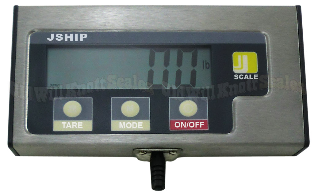 The Jennings JShip 332 - Close-up Of Weight Display And Control Buttons