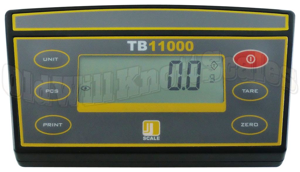 The Jennings TB11000 - Close-Up Of Front Weight Display