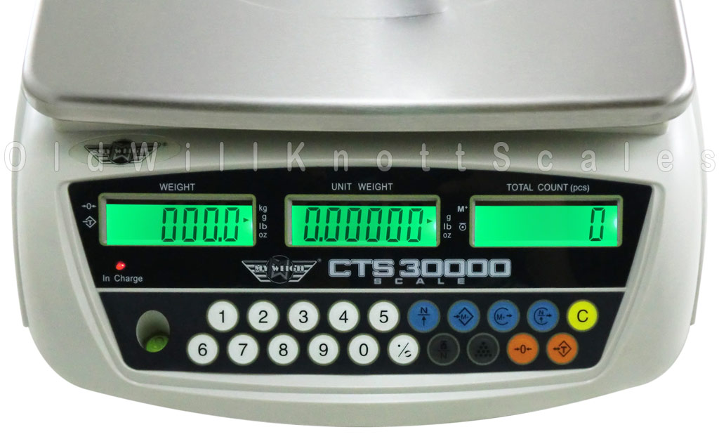 My Weigh - CTS30000 - Close Up of Display Panel