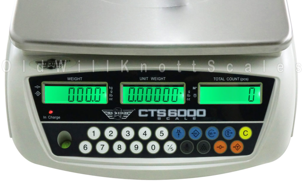 My Weigh - CTS6000 - Close Up of Display Panel