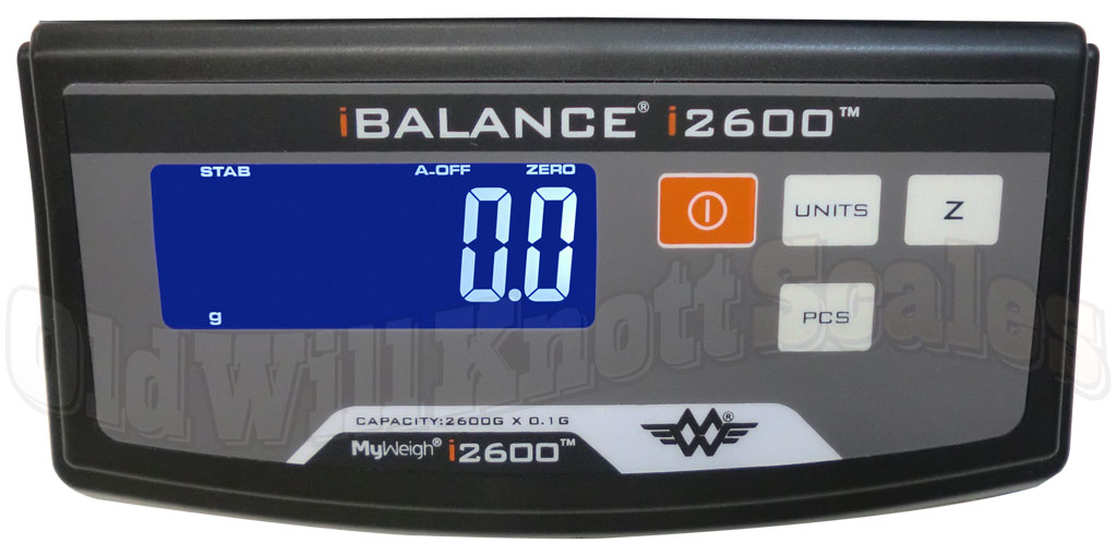 My Weigh - iBalance i2600 - Close Up of Display Panel