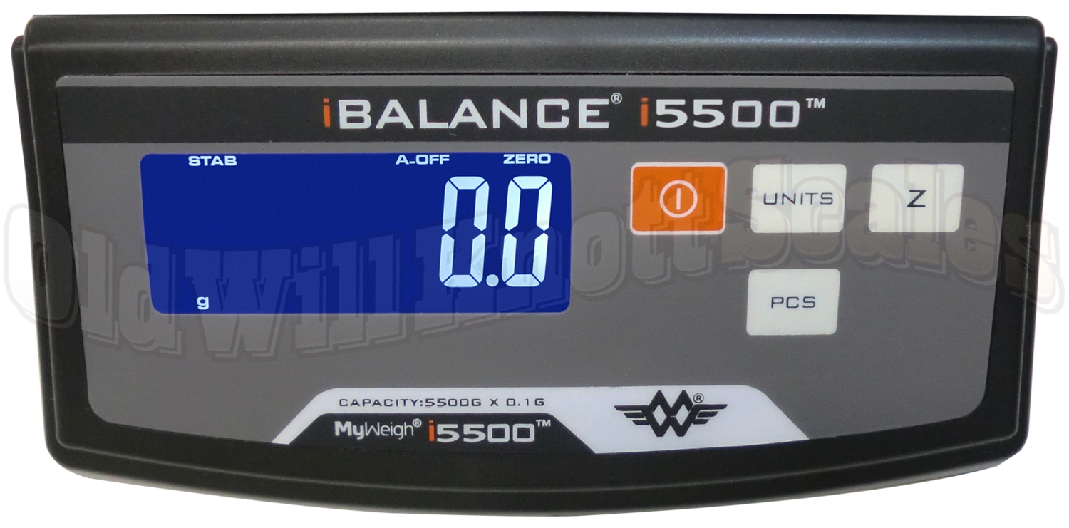 My Weigh - iBalance i5500 - Close Up Of Display Panel