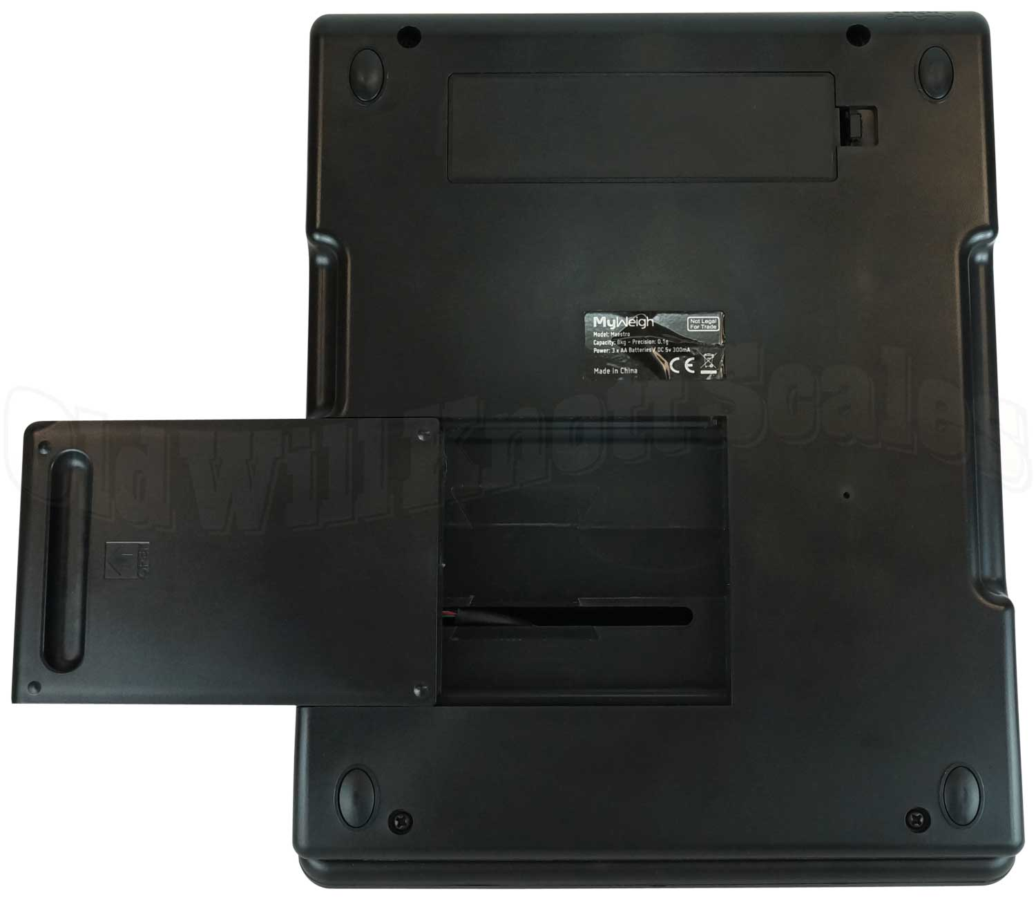 My Weigh - Maestro - Bottom View with Small Platform Extended