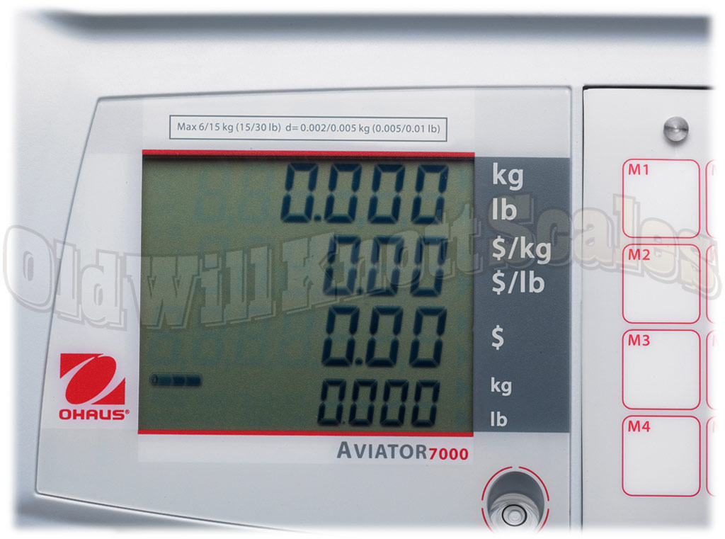 Ohaus - Aviator 7000 - Display Closeup