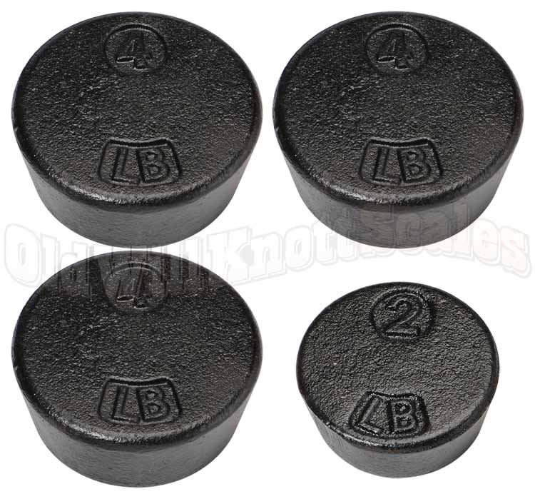Penn - 1701B - Three 4 Pound and One 2 Pound Cast Iron Weights