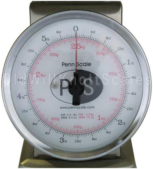 Penn Scale - P-5R - Closeup of Dial