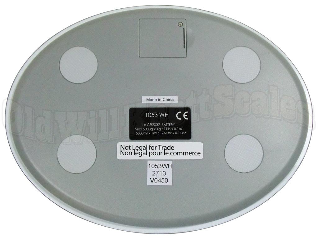 Salter 1053 White Ultra Thin Glass Kitchen Scale