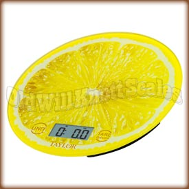 Taylor - 3823LE - Glass Top Kitchen Scale with Lemon Slice Background