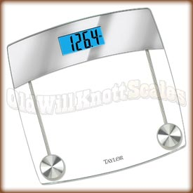 Taylor - 7524 - Digital Bathroom Scale with Glass Platform and Mirror Accent