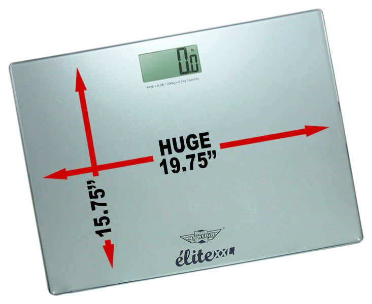 The My Weigh Elite Xxl High Capacity Digital Bathroom Scale With Extra Large Platform