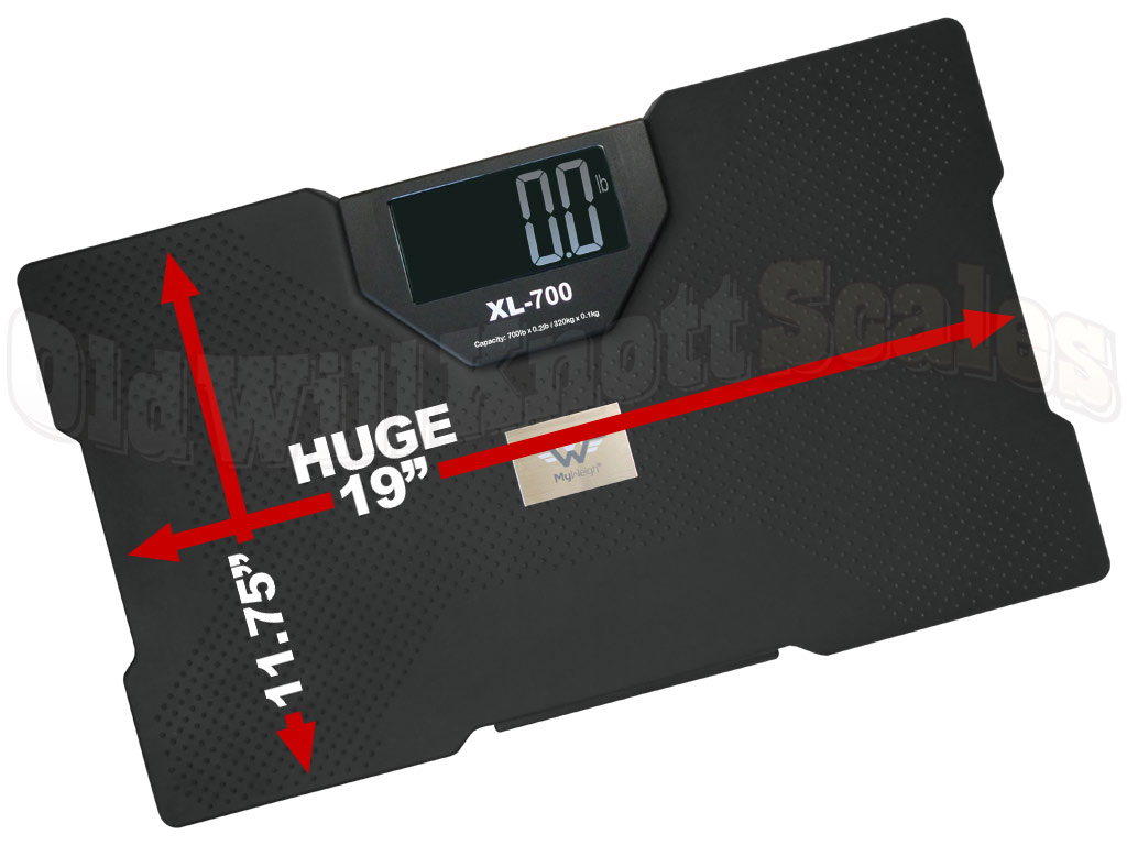 ... Capacity Talking Bathroom Scale. Extra Large 19 Inch Platform And 4  Languages To Choose From. 700 Pound Capacity X 0.2 Pound Resolution