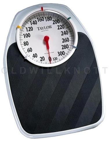 The taylor 1130t mechanical speedometer large dial scale for Large capacity bathroom scale