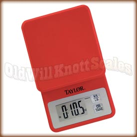 Taylor - 3817-4 - Red Compact Kitchen Scale