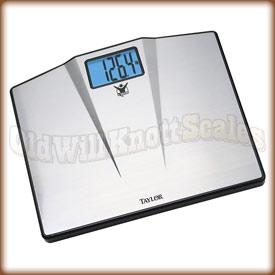 Taylor Pound Bathroom Scale With Stainless Steel Platform - Large display digital bathroom scales