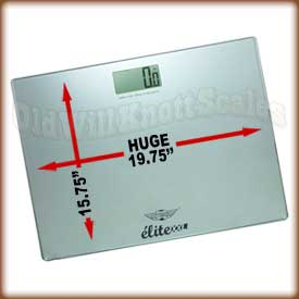 My Weigh Elite XXL - Silver my weigh, elite xxl, high capacity bathroom scale, large platform