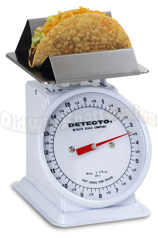 Detecto PT-1TF - Enamel Body & Fixed Dial With Taco / Fry Holder