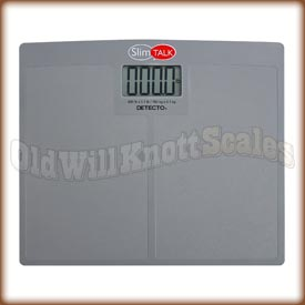Detecto SlimTALK Talking Bathroom Scale slimtalk 440,slim talk,portable medical scale,detecto,visiting nurse scale, talking scale,