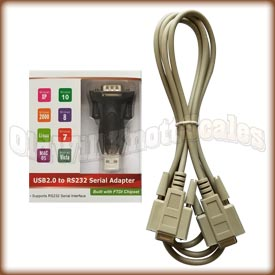 USB to 9 Pin RS232 Adapter and Cable