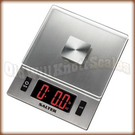 Salter - 1069SV - Digital Kitchen Scale with Red LED and Glass Platform
