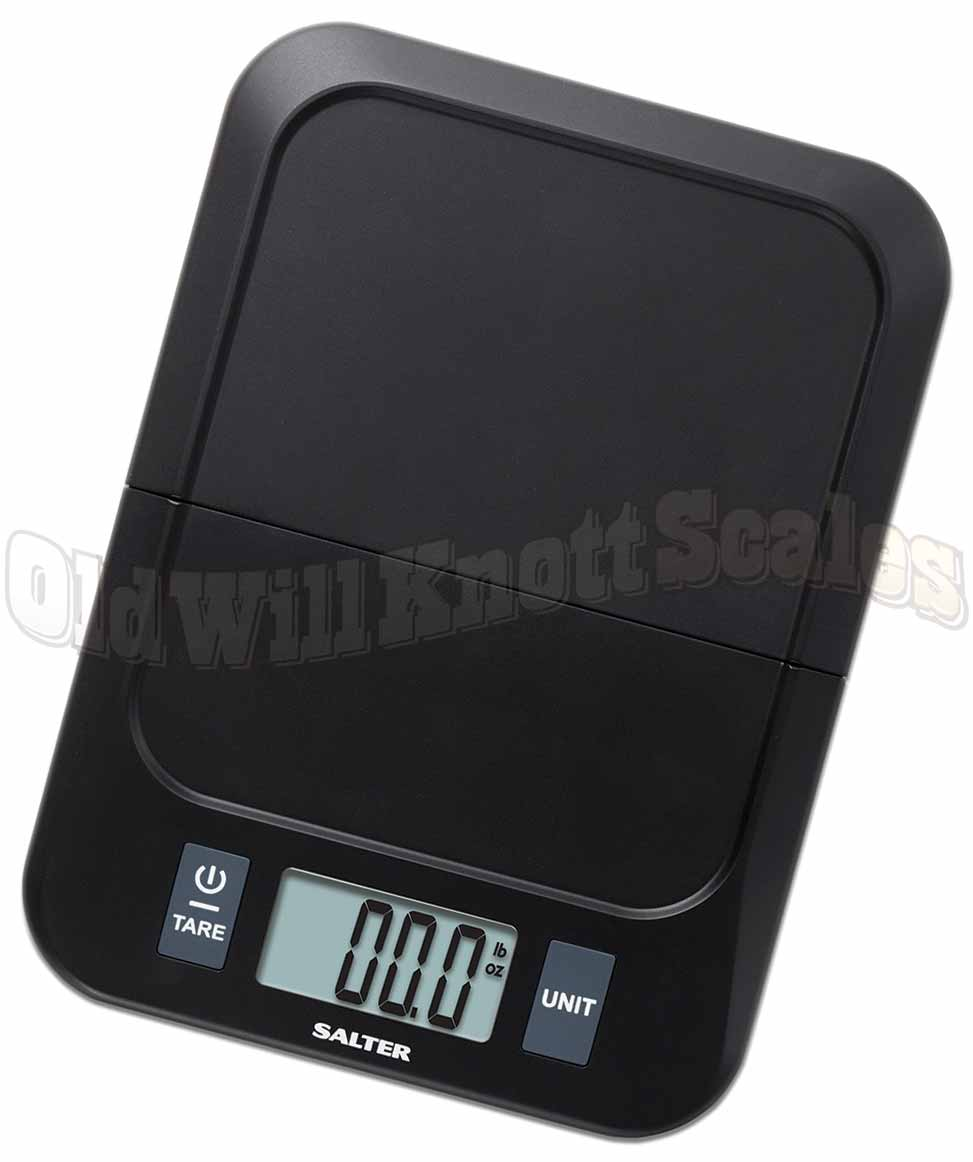 Salter Folding Digital Kitchen Scale In Black