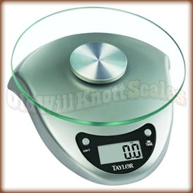 Taylor - 3831S - Silver Digital Food Scale with Glass Platform