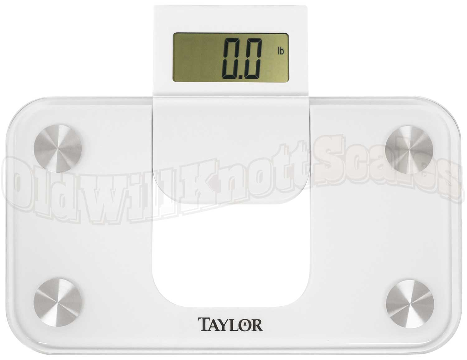 Taylor 7086 Min Bathroom Scale With Slide Out Display