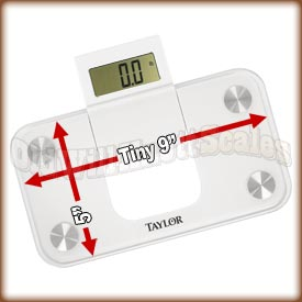 Taylor - 7086 - Compact Bathroom Scale with 5 x 9 Inch Platform